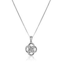 China wholesale 925 sterling silver zircon celtic knot necklace jewelry