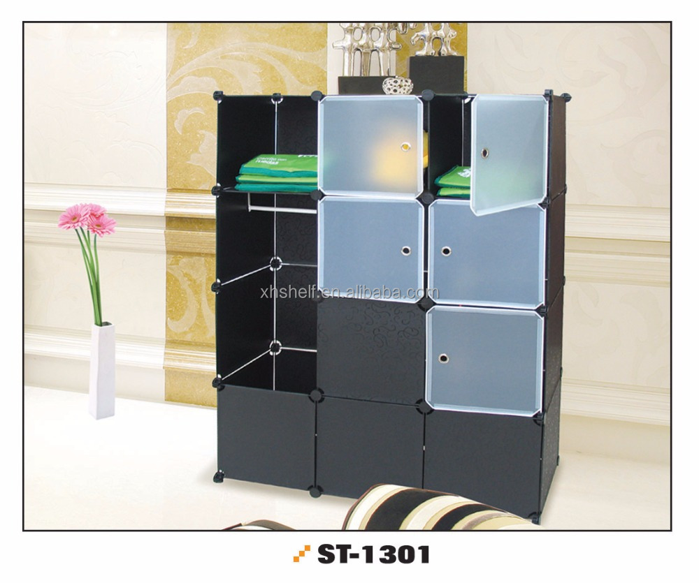 2016 hot selling plastic portable clothes chest/ cabinet for sale