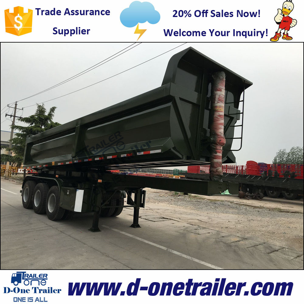 Heavy Commercial Vehicles Dump Trailer Truck For Construction Companies