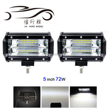 High Quality Car Accessories Auto 12V 24V Led Driving Light Working Light 72W Bar Lamp