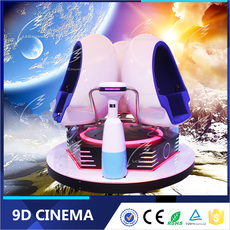 Small Investment High Profit Business VR Cinema 9D Game Machine Roller Coaster Simulator