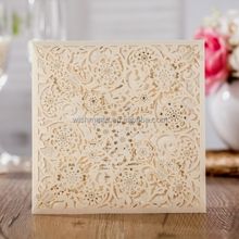 WISHMADE Wedding Invitation Card Kit Laser Cut Flowers Free RSVP Thank You Cards Envelopes Seals Cardstock CW6110