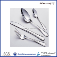 2016 Unique design customized Stocklot promotional 18/8 silver cutlery