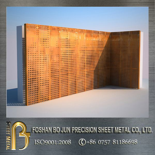 metal architecture perforated corten steel panels