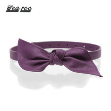 Beautiful ladies' pu material purple dress belt brands wholesaler