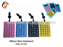 2014 cute gifts promotional Waterproof Numeric keyboard.