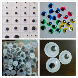 COMPLY TO EU&USA STANDAR 3mm-50mm back button sew on adhensive oval color eyelash sticker googly eye, wiggle eye, moving eye