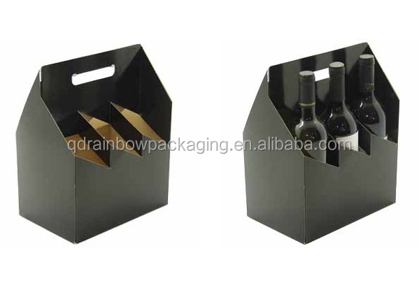 Custom printing six pack beer box beer carrying case