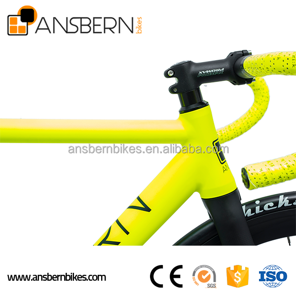 700C 6061 Aluminum Aero Fixie Fixed Gear Bike Single Speed Bike ASB-FG-A10 chopper pedal bikes