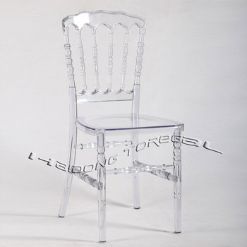 Clear Commercial Banquet Polycarbonate Resin Napoleon  Chair