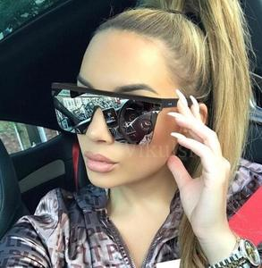 369adde9c4c5 Unisex Fashion 2019 Ladies Square Sunglasses Women Oversized Shades Vintage  Brand Designer Silver Mirror Sun Glasses