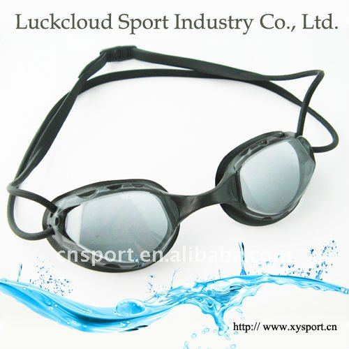 bathing suits adjustable double-headstrap swim goggles underwater glasses
