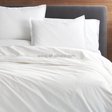 Hotel Plain White Bed Linen 100% Cotton King Flat Sheets Sets 4 Pieces Wholesale