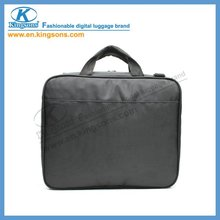 black nylon laptop messenger