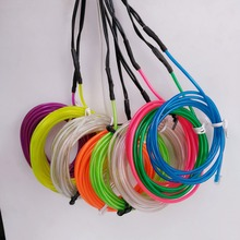 excellent quality sound sensitive 4mm diameter costume flat el wire with multi color