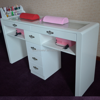 Very cheap factory sale salon furniture double nail table for Very cheap furniture for sale