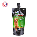 China Factory 125ml Spout Stand Up Plastic Packaging Pouch For Dog Food
