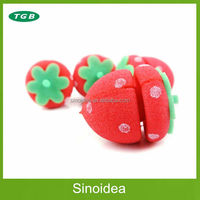 Fashion Girl's Sponge Hair Roller/ Strawberry Sponge Hair