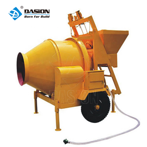 Portable self loader 350L belle concrete mixer with lifting bucket