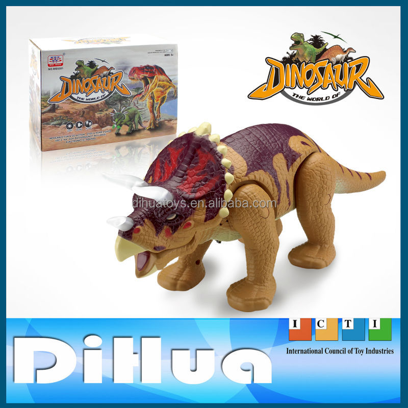Plastic Electric Robot Battery Operated Dinosaur Toy with Sould and Walking Function