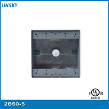 "aluminium die cast 5outlet holes 1""hole 33.5cubic inch electrical waterproof cable junction box connector"
