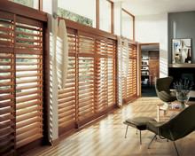 Interior shutters wooden sliding door bi-pass plantation shutter hot sale
