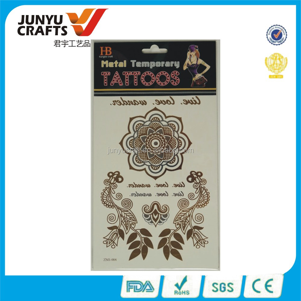 promotional chinese factory glitter tattoo stencils