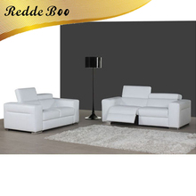 <strong>Modern</strong> white Italian leather lounge small curved sofa supplier