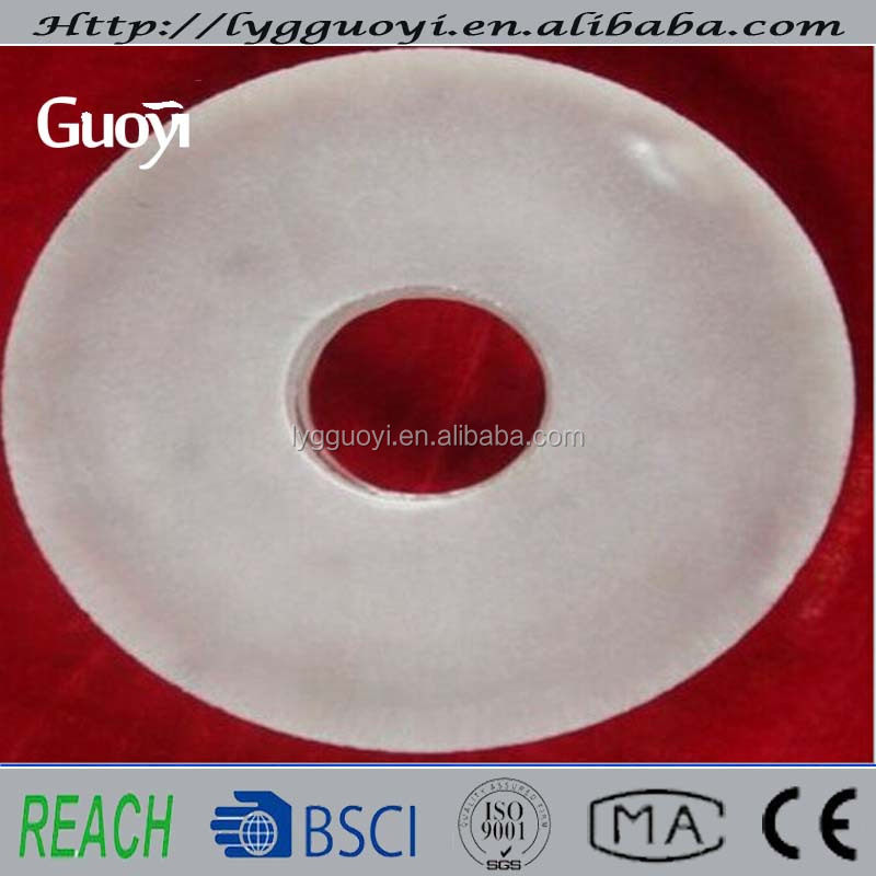 Frosted Quartz Glass Disc With Holes