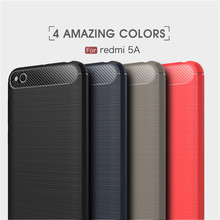 Fast shipping for Redmi 5 A tpu case,shockproof protective TPU cover carbon fiber case for Xiaomi Redmi 5A