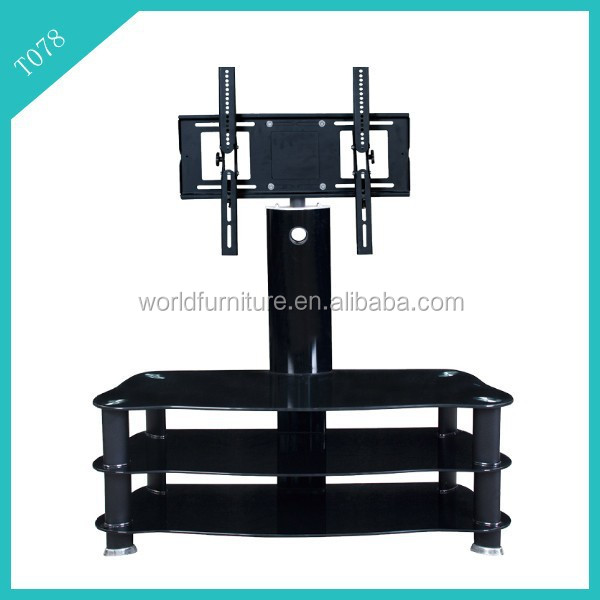 glass tv stand /iron pipe tv stand