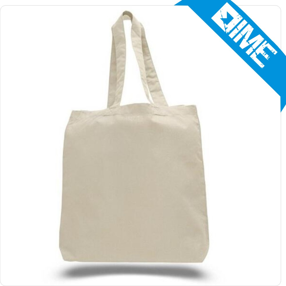 Natural Canvas Cotton Shopping Bag Cloth White Fabric Bag Wholesale More Than 100pc Can Custom Handbags