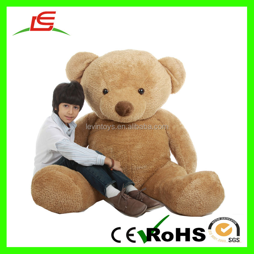 Custom wholesale pv fleece brown plush big teddy bear 200cm for kids toy