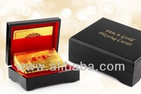 PLAYING CARDS IN 24 KARAT GOLD With wooden box