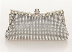 newest fashion funcy bridal noble party crystal bead evening bag lady bead clutch bag