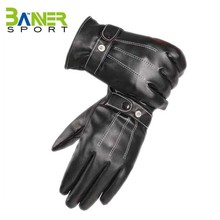 Wholesale cheap winter snow warm leather gloves
