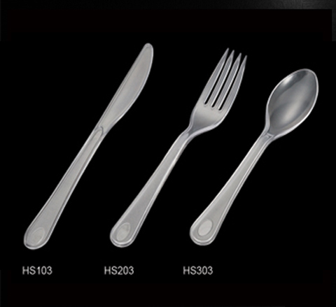 PS Plastic clear cutlery, disposable fork/knife/spoon for wedding & pary