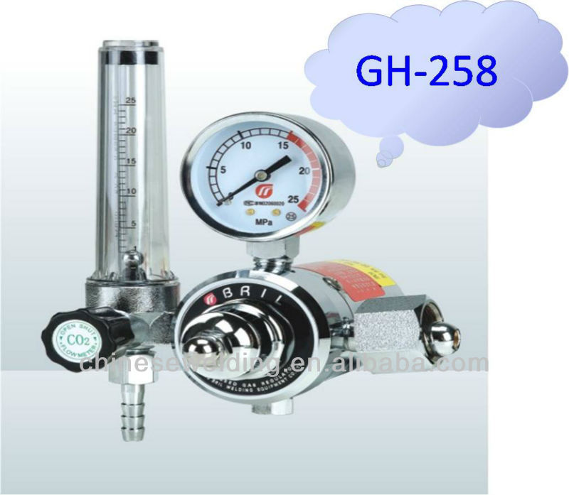 Electric Heated CO2 Gas Regulator With Gauge