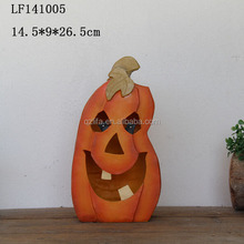 resin pumpkin solar lights Garden decoration