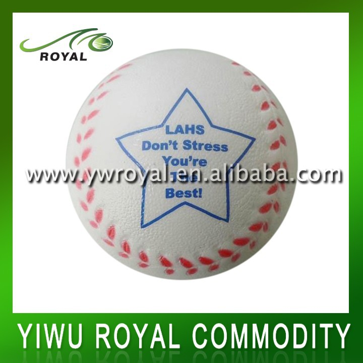 Hand Exercise PU Foam Baseball Sports Stress Ball