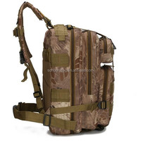 Direct sale cheap camo hiking military style backpack travel bag