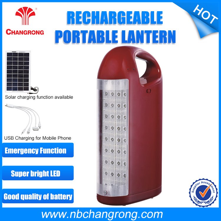 Portable Solar Rechargeable Lantern, Solar LED Camping Lamp