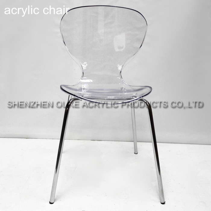 High quality clean acrylic backrest chair plastic dinning room