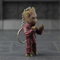 Custom plastic 3d figure keychain guardians of the galaxy groot, guardian angel figurine 3d keyring