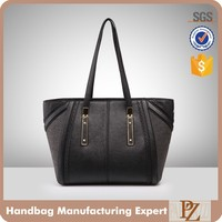 4931-Semi-PU tote handbag for girl competitive low price women bags hot sale