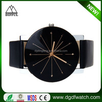 new fashion round mens women unisex black storm watches head leather band titan watches ladies