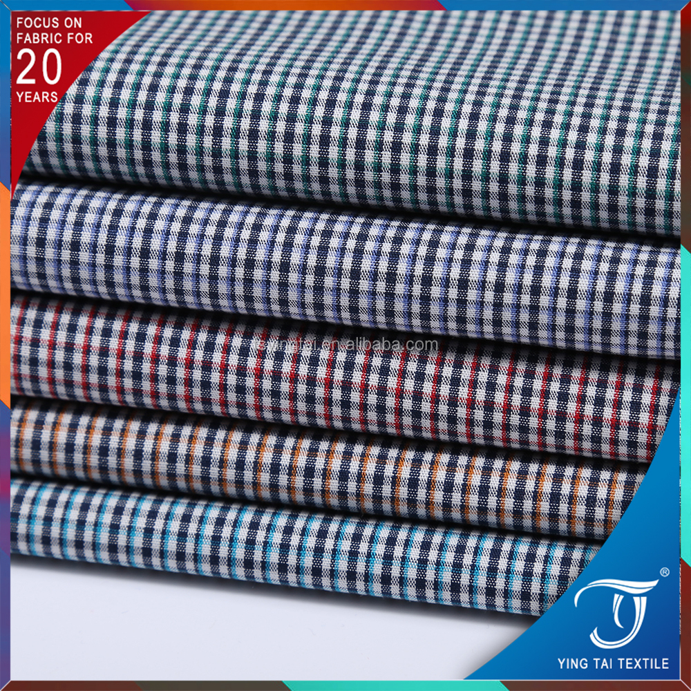 Discount price gingham 100%cotton yarn dyed fabric low price good quality high density quality guarentee