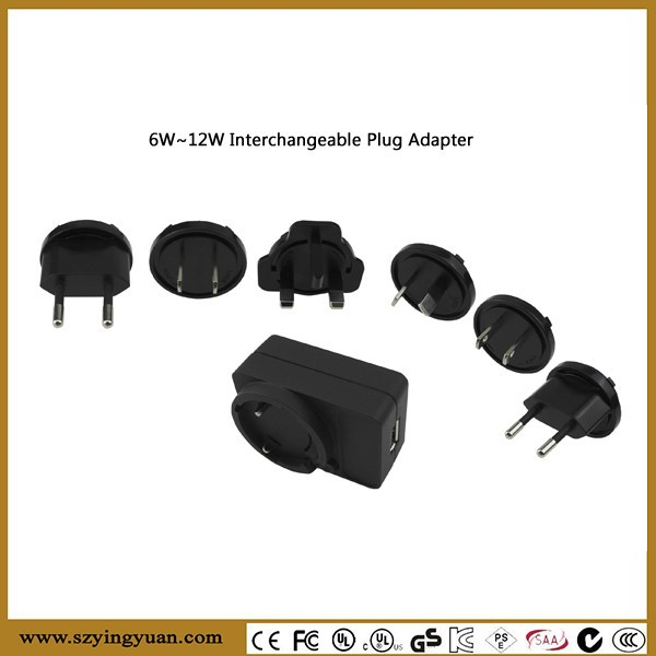 5V 2A usb interchangeable plug adapter All in One Universal Travel Wall Charger Power Plug Adapter