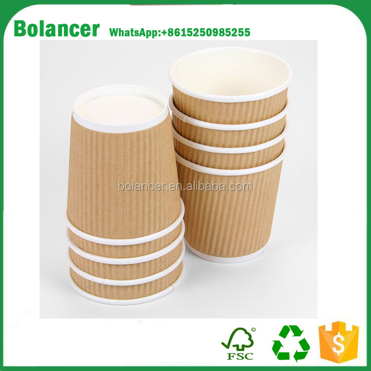 Supply Small 4oz Brown Ripple Paper Cups