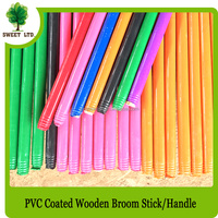 Wooden broom stick for cleaning tool / hot sales leaf rake wooden handle stick